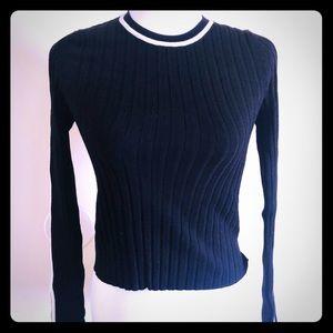 SzM Zara Black & white sweater shirt